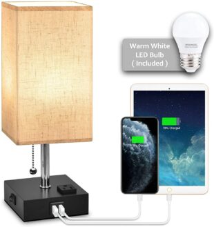 USB Bedside Table Lamp