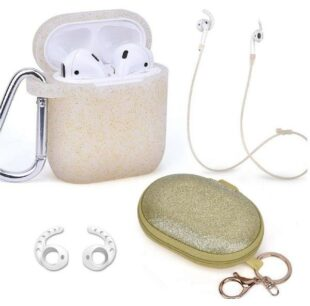 Gold Air Pod Case Set 5 IN 1