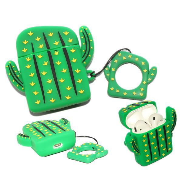 Air Pod 3D Silicone Case Cactus