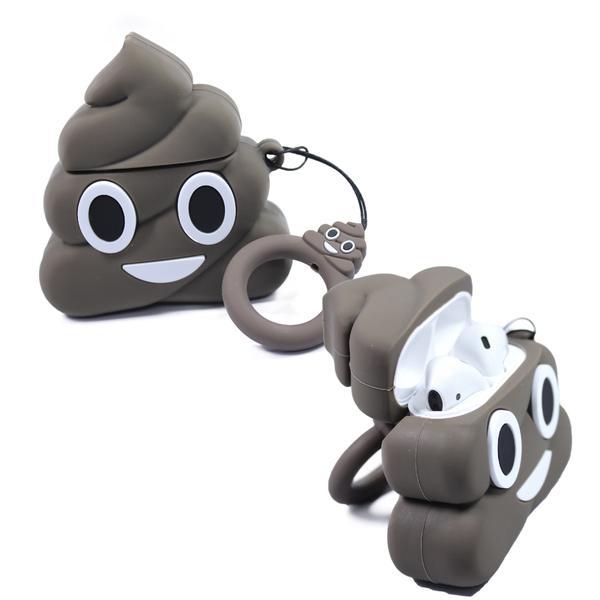Air Pod 3D Silicone Case Brown Poop