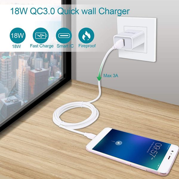 Quick Charge 3.0, 18W 3Amp USB Wall Charger