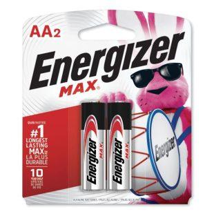 Energizer MAX Alkaline AA Batteries, 1.5V, 2Pack