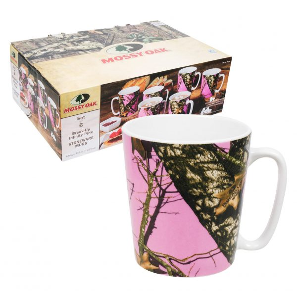 Mossy Oak 6 Piece Coffee Mug Set - Pink