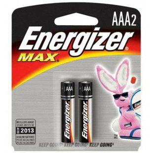 2pk Energizer AAA Alkaline Battery
