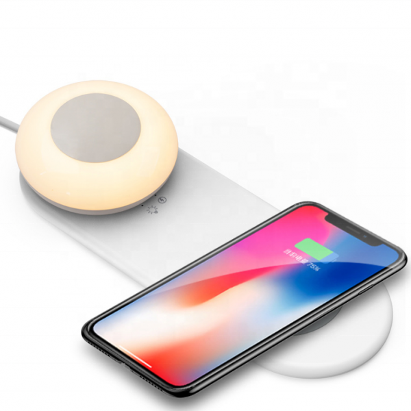 Bedside Night Light with Wireless Charger
